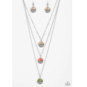Rural Reconstruction Stone Accent Layered Necklace